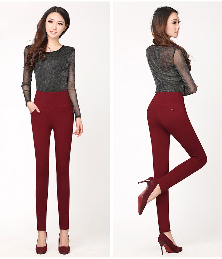 Hot! winter Thickening thick Velvet Products Elastic stretch pants - Women's Clothing - Photo 3