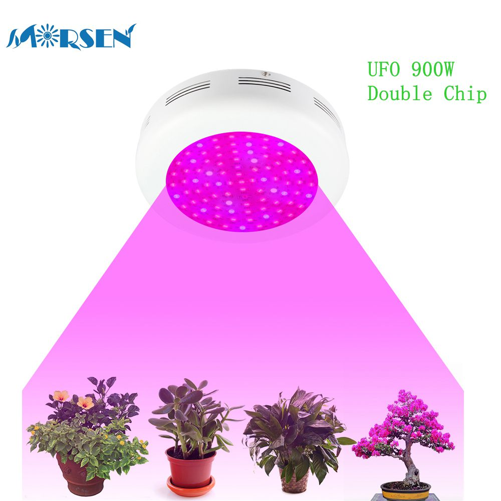 1pcs Led Grow Light UFO 900W Double Chips Full Spectrum Led Plant Lamp Panel Lights For Growing Flowering Indoor Grow Tent*15#45 4pcs kingled 1200w powerful full spectrum led grow light panel for plants flowering and growing led plant lights