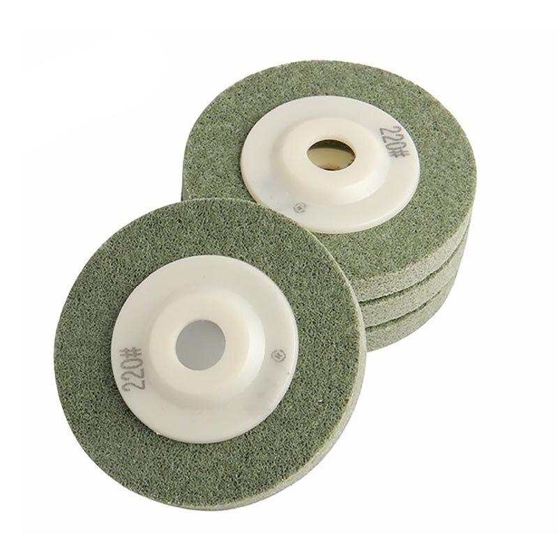 220Mesh 4/100mm 4Pcs/Set Polished Polishing Wheel Nylon Yarn For Marble Metal Glass Polishing Power Tools