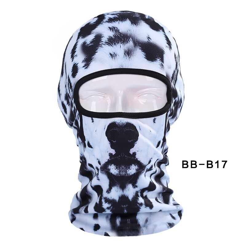 Lovely Cute 3d Dalmatians Dog Animal Bicycle Cycling Fishing Head Hat Outdoor Sports Cap Ski Balaclava Motorcycle Full Face Mask