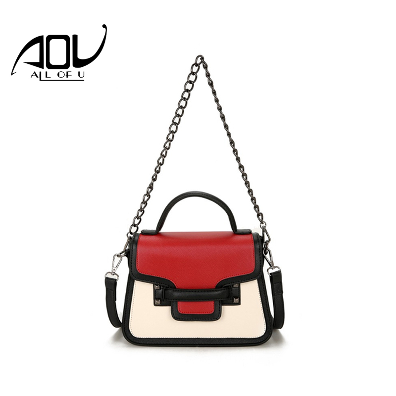 AOU 2017 New women Crossbody Bags Hit color Handbags Women Famous Brands Clutch Bag Bolsa Sac A Main Femme De Marque Celebre aou new women classic bag brand chains bags women s fashion shoulder bag red celebrity crossbody bag sac a main china gift