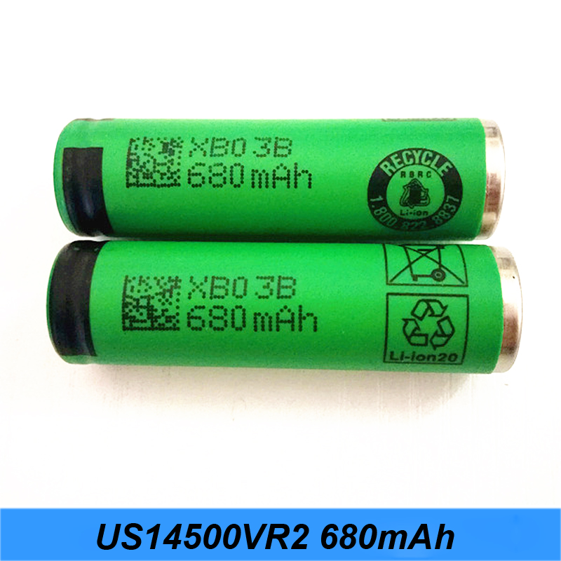 Authentic AA size 3.6V <font><b>14500</b></font> US14500VR2 680mAh Flashlight <font><b>Battery</b></font> High Capacity AA <font><b>battery</b></font> 680mAh VR2 <font><b>14500</b></font> <font><b>Batteries</b></font> <font><b>Li</b></font>-<font><b>ion</b></font> jy1 image