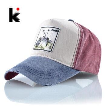 Fashion Baseball Caps Women 100% Cotton Snapback Dad Hats For Men Spring Summer Panda Pattern Embroidery Hip Hop Bone Gorras 1