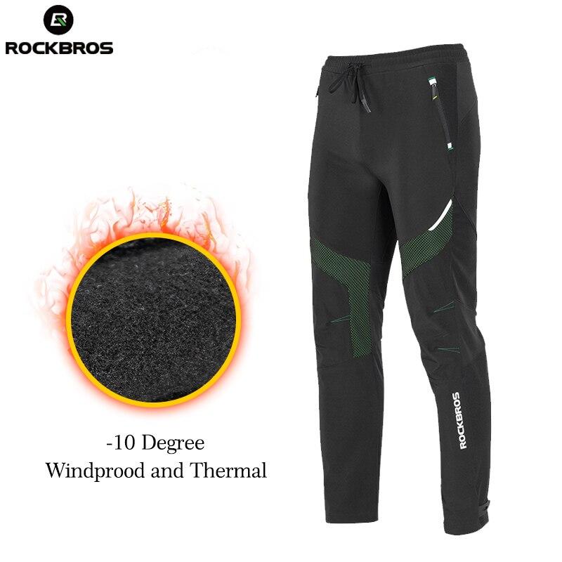 ROCKBROS bicicleta invierno Pantalones de deporte al aire libre impermeable térmico pantalones de lana pantalones de bicicleta equipo medias corriendo Pantalones - 4