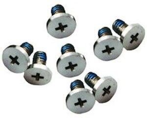 10 set/lote, cubierta inferior trasera, tornillos de 8 piezas, conjunto de pieza de reparación para Macbook Pro A1342 MC207 MB207 MC516 MB516