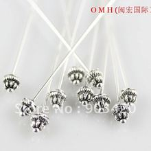 OMH wholesale 50pcs Jewelry accessories tool PINS tibet silv