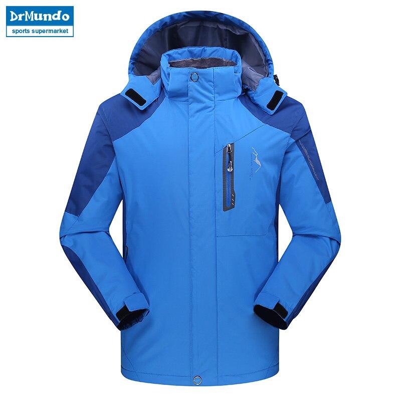 Homme veste de ski montagne épaissir grande taille polaire Ski-wear imperméable randonnée plein air Snowboard veste coupe-vent neige veste