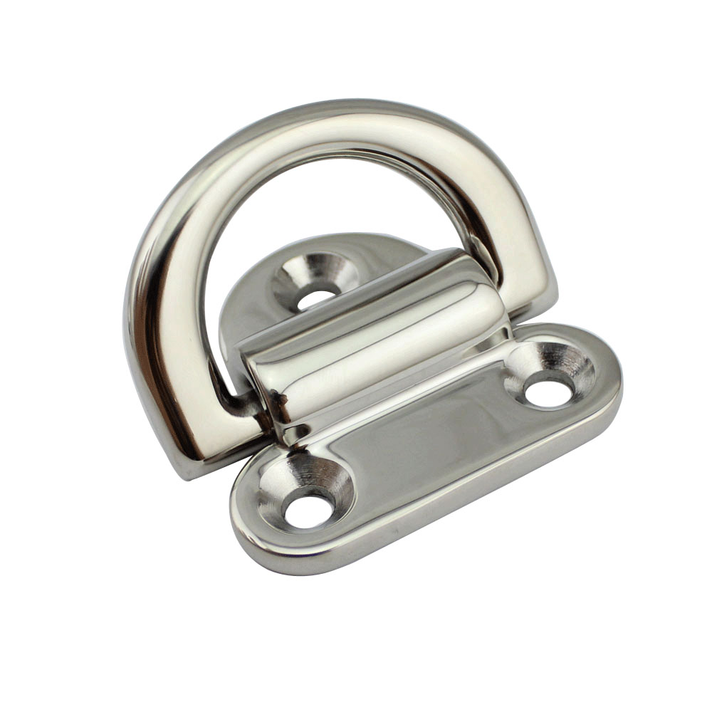 Lashing D Ring Tie Down Point Anchor 4Pcs Trailer Boat Rope Deck Pad Eye