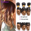 Ombre Peruvian Hair Loose Wave 3 Bundles 7A Wet And Wavy Peruvian Ombre Loose Wave Hair Bundles T1B/27 Two Tone Loose Wave Hair