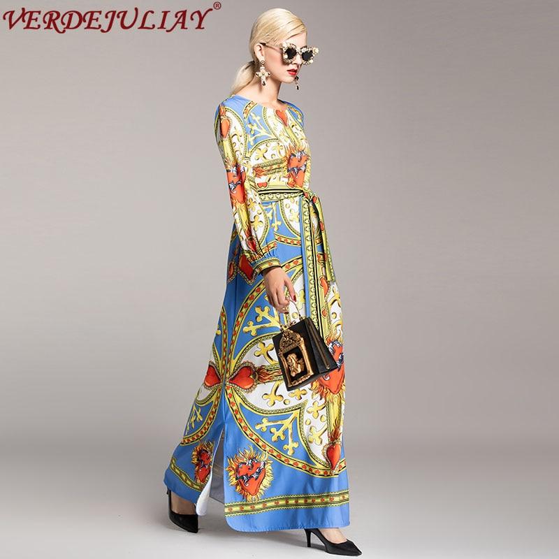 Européenne De Photo Cheville Robe Plus Coloré As 2019 Bohème Taille Ceinture  Lâche La Automne Nouveau Longue Fleurs Impression Robes Mode Femmes longueur  ... 4a3703926ef