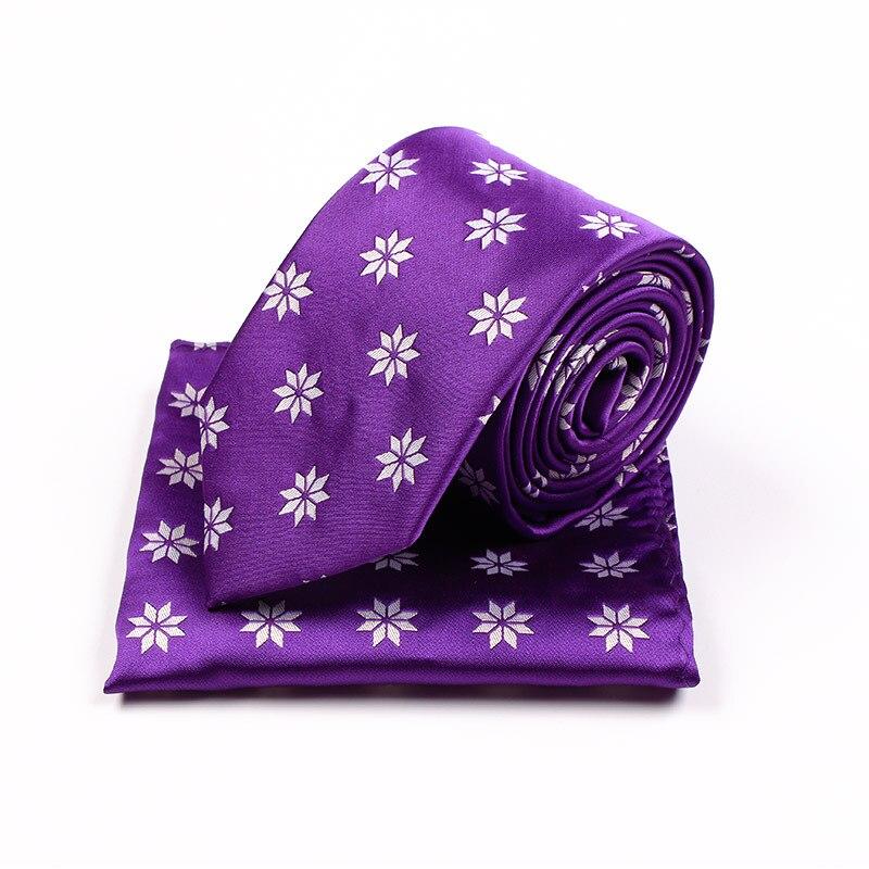 2017 new Christmas gifts 7.5cm pupre neck ties for men suit collar jacquard krawatte nep kraagje gravatas cravate pour homme