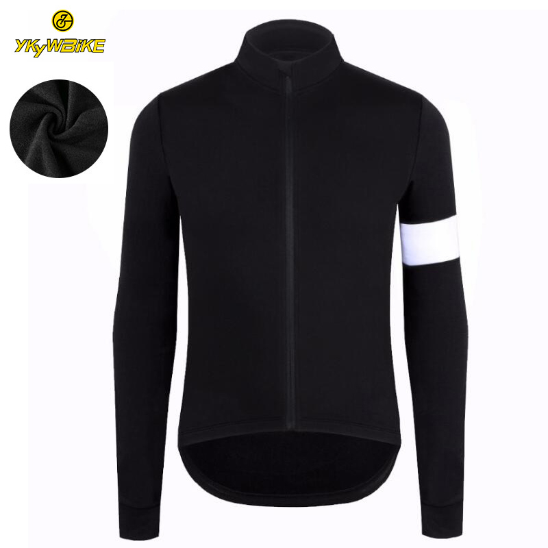 YKYWBIKE Winter Thermal Fleece Men Cycling Jersey Custom Long Sleeve High Quality Cycling Bike Clothing Team Zipper Pocket