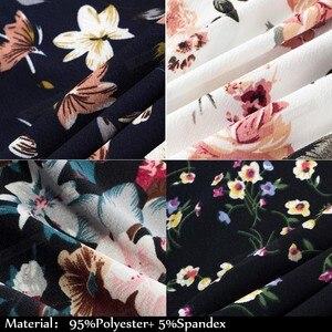 Image 5 - Nice robe de soirée Vintage, imprimé Floral, élégante, manche Cap, forme trapèze, évasée, btyA067