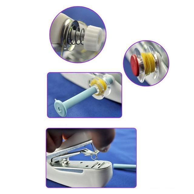 أدوات الحياكة لون عشوائي هاندي آلة الخياطة الخياطة أداة 11*7*4 سنتيمتر الكهربائية يده الخياطة آلة التبعي