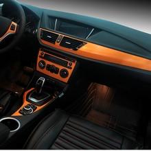 Savanini Car-Styling Estrenar de la Consola Central Del Interior Del Coche Cambio de Color Sticker Calcomanías de Moldeado de la Fibra de Carbono Para BMW X1 2014-2015