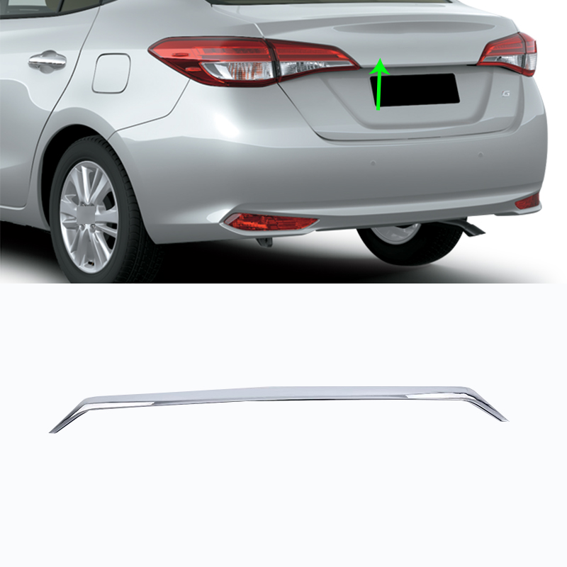 Car Accessories Exterior ABS Chrome Rear Trunk Lid Molding Streamer Cover For...