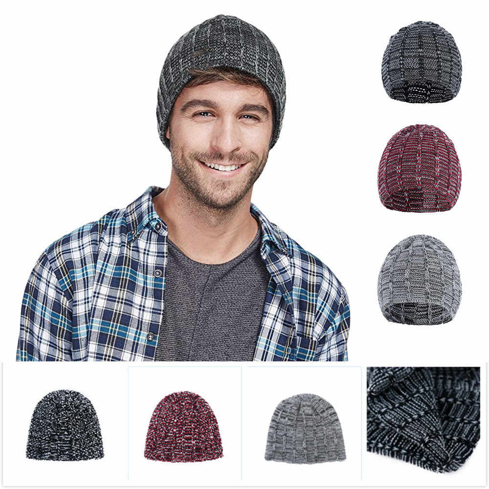 quality design detailed images special section 2019 Fashion Winter Hats For Women Crochet Knit men Cap Skullies Beanies  Warm Caps Female Knitted Stylish Hat man