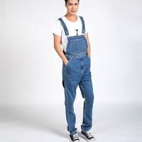 Autumn Winter Men S Bib Denim Overalls Cowboy Big Size 30 40 Regular Fit Blue Jeans