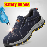 TOURSH Safety Shoes For Men Safety Shoes Steel Toe Safety Shoes Men Work Shoes For Men Steel Toe Cap Sneakers Men Krasovki 2018