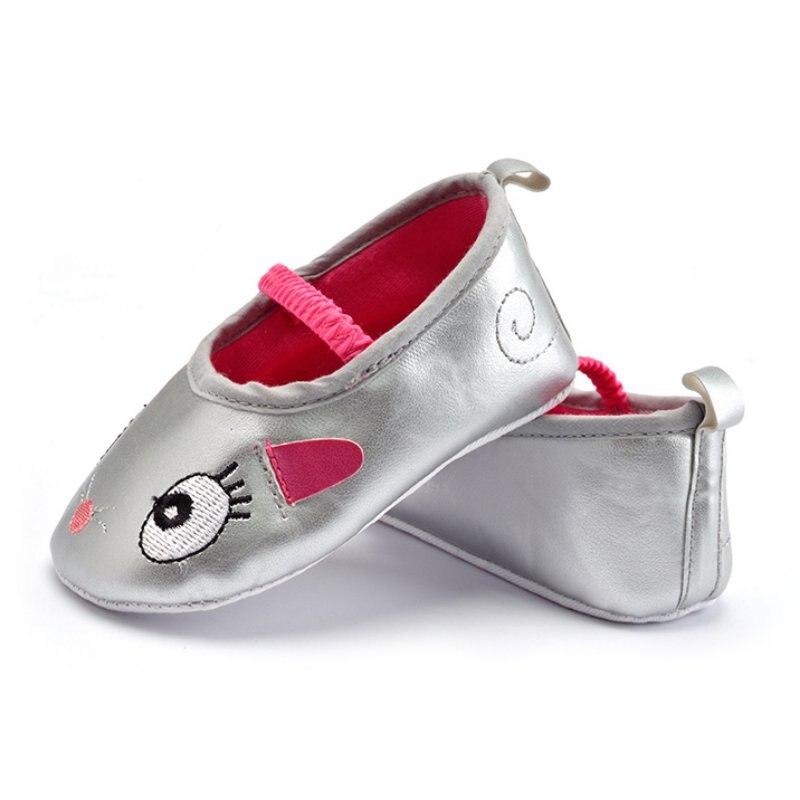 Лучшая цена! 0-12 м малыш Обувь для девочек милые Обувь с рисунком из мультфильмов Prewalker из мягкой искусственной кожи Обувь для младенцев m2