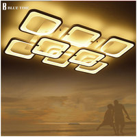 Rectangle Minimalist Modern led ceiling lights for living room bedroom AC 85 265V Square ceiling lamp fixtures