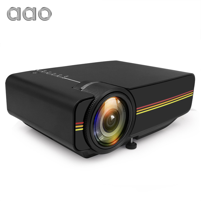 Big Sale AAO YG300 Upgrade YG400 Mini Projector 1800 Lumens For Video Game TV Beamer Proyector Home Theatre Movie AC3 HDMI VGA AV SD USB