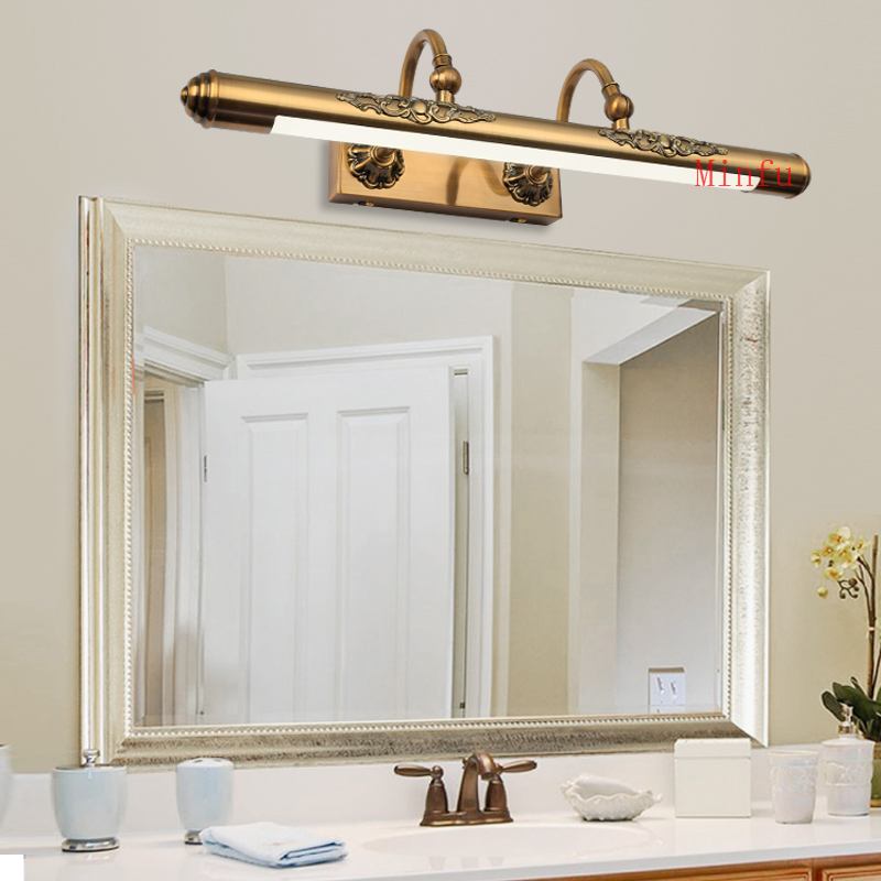 Simple bathroom mirror hydroponic led grow lights