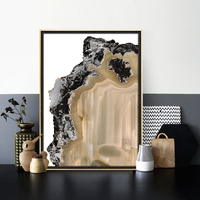 Modern Abstract Poster Brown Agate Poster Picture Nordic Decorative Home Living Room Canvas Wall Art Gem