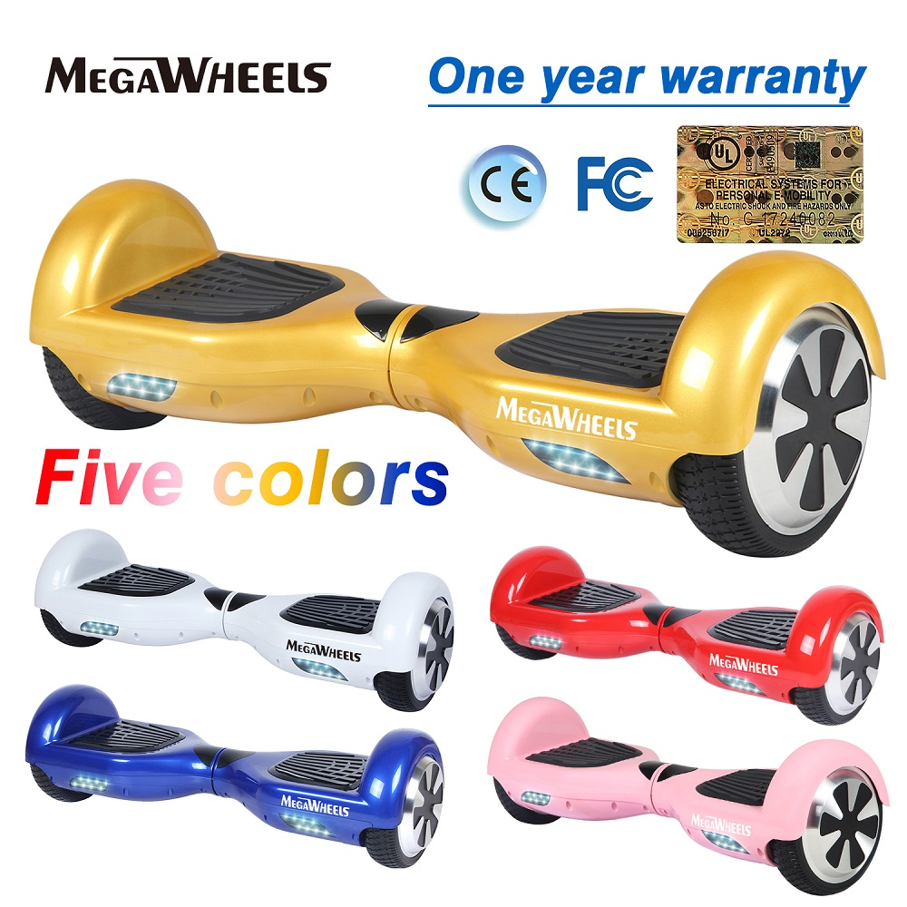 Self Balance Electric Scooter 6.5inch Hoverboard Megawheels Ridable Electric Skateboard UL2272 Certificated Free Shipping No Tax free tax