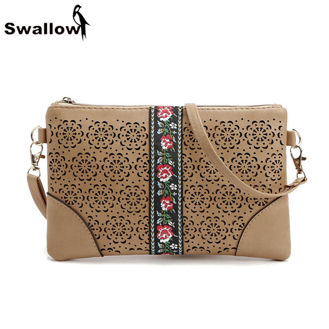 Vintage Embroidery Women Messenger Bags Famous Brand Newest Hollow Out Small Crossbody Bags For Women Floral Envelop Bag Flower