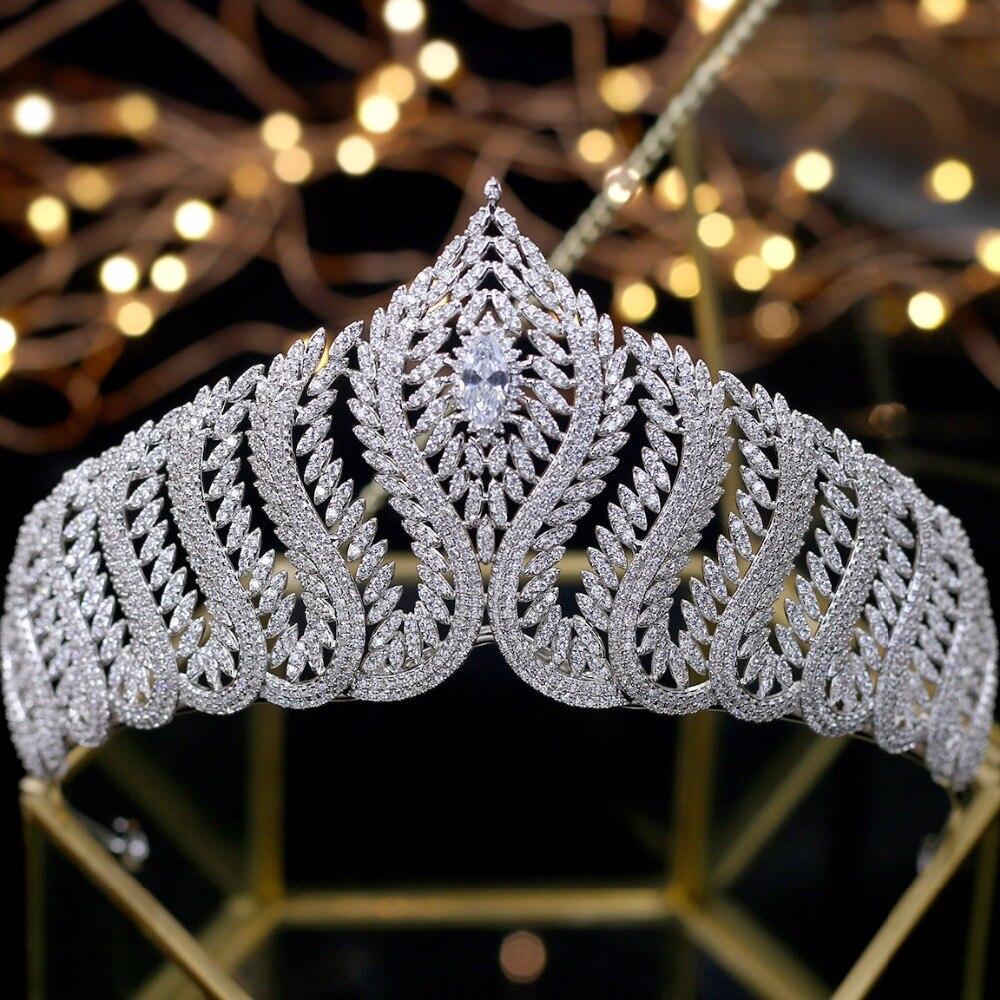 Nuovo Disegno Zircone Diademi Corone Wedding Accessori Per Capelli Da Sposa Delle Donne coroa de noiva-in Gioielli per capelli da Gioielli e accessori su  Gruppo 1