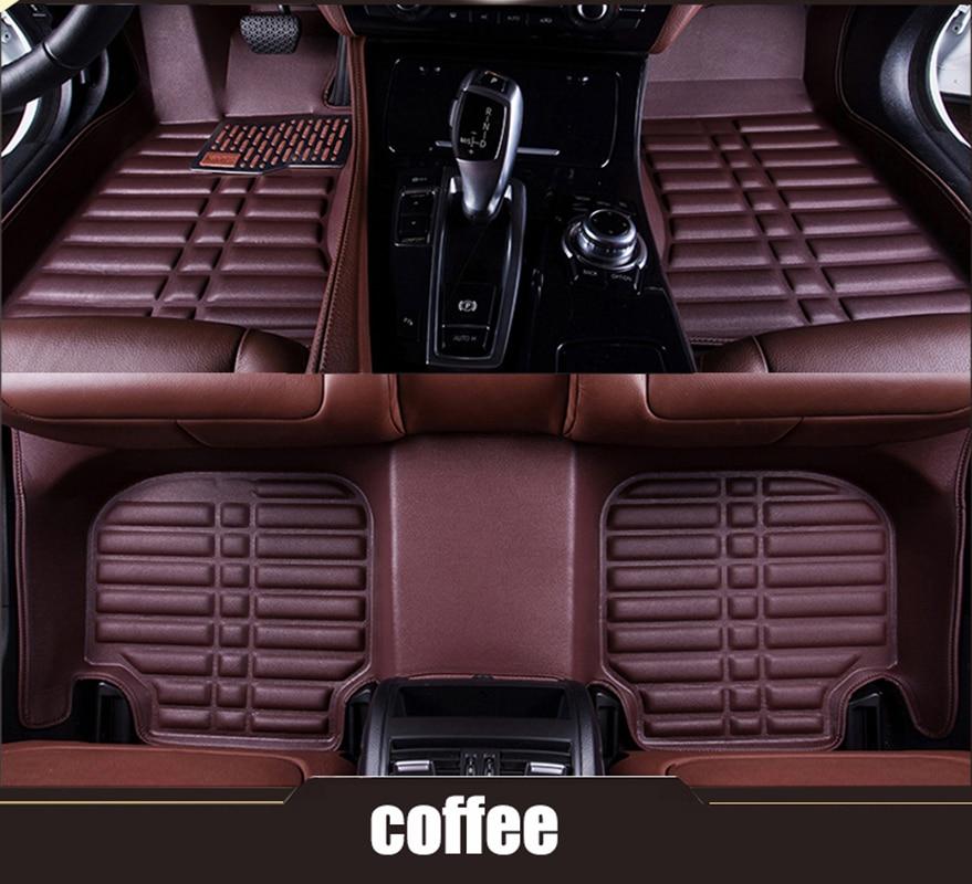 kalaisike Custom car floor mats for BMW 3 5 7 Series E46 E39 E90 E60 E36 F30 F10 F20 E30 E53 X3 X5 X6 G30 F11 car styling
