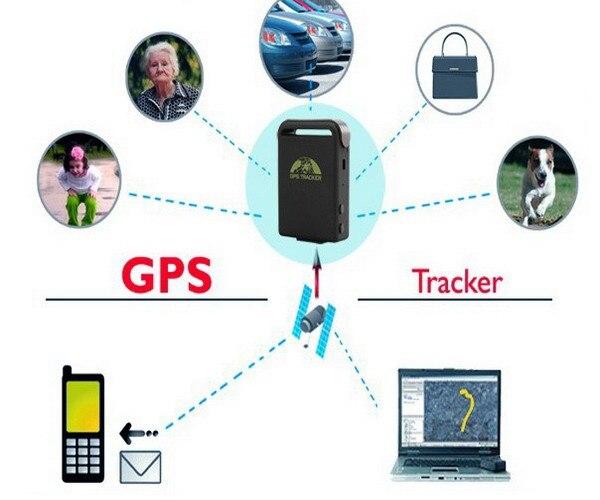 Стандартный Полный аксессуары мини автомобиль gps/GSM/GPRS трекер TK102 в реальном времени 4 полосы устройства слежения TK102B