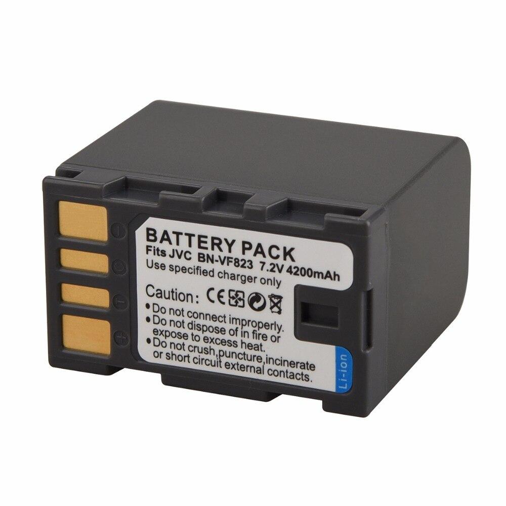 1 pc 4200 mAh 7.2 V Batterie Pour Caméra JVC BN-VF823 BN-VF823U VF808 VF815 GZ-HD7 GZ-MG575 Dropshipping
