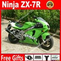 Body kit Carenagem para a Kawasaki Ninja carroçaria 1996-2003 ZX7R 96-03 zx7r OEM luz verde carenagem da motocicleta AF87