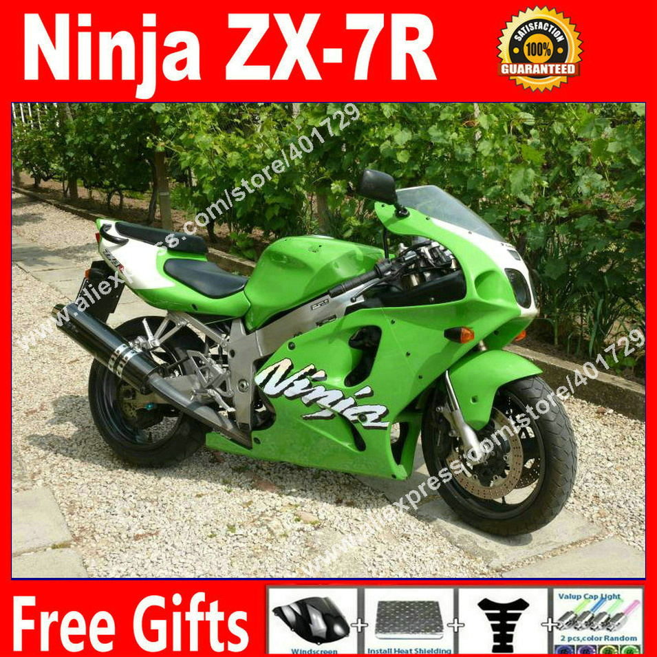 body kit Fairings for bodywork Kawasaki Ninja  1996-2003 ZX7R 96 - 03 zx7r OEM light green motorcycle fairing AF87