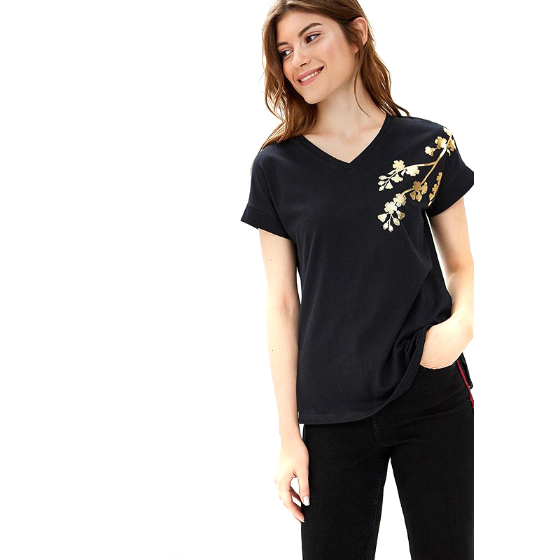 T-Shirts MODIS M182W00104 shirt cotton for for female for woman TmallFS t shirts modis m182w00115 shirt cotton for for female for woman tmallfs