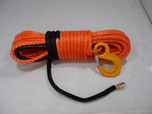 Free Shipping 10mm*30m Orange Synthetic Winch Rope,3/8 x 100 Cable,Off Road Rope,ATV Line