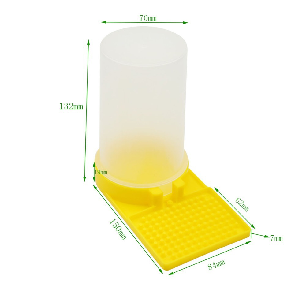 1pcs Feeders For Bees Plastic Watering Feeding Feed Waterer Bottles Cups Box Beekeeping Beehive Tools Agriculture Equipment