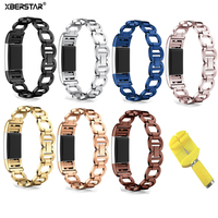 21cm Wrist Band Watch Strap For Fitbit Charge 2 Charge2 Bracelet Watchbands Precious Fashion Stainless Steel