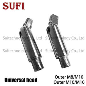 2pcs Spotlights Universal Head Short Pole M10 Universal Joint lamp M10 external tooth steering joint Universal hinged hose lamp