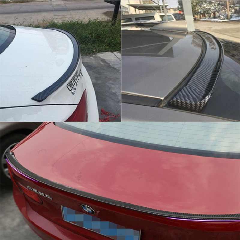 1.5 M גומי רכב סטיילינג האחורי ליפ ספוילר גג סיבי פחמן לב. מ. וו M3 M4 Z4 E90 E92 E46 F32 F30 F10 F80 F8 כל רכב