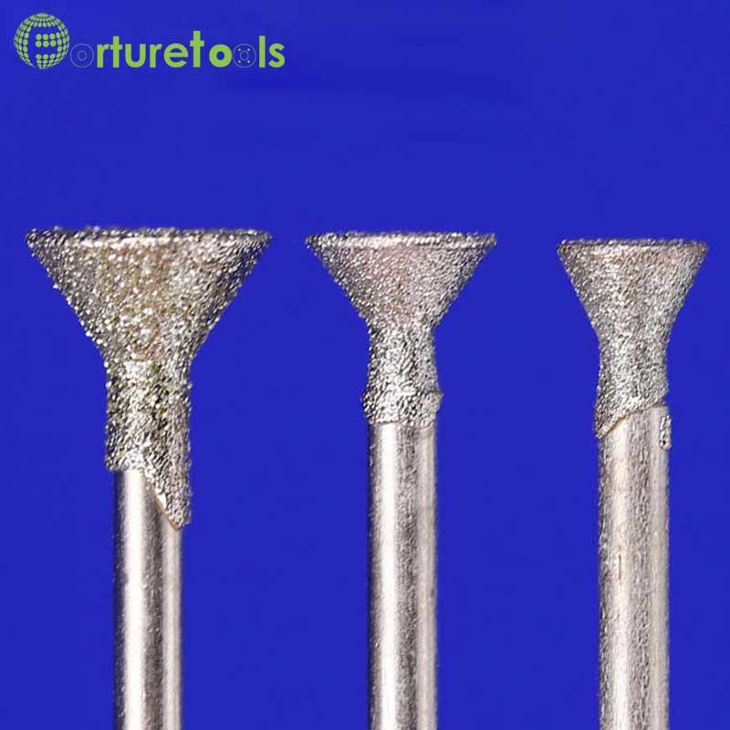 50 stks diamant gemonteerde punt dremel roterende gereedschap - Schurende gereedschappen - Foto 5