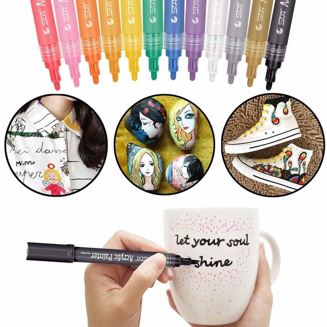 Ensemble de peinture acrylique STA Colors marqueur de peinture Permanent dessin à base d'eau décoration de noël marqueurs d'artiste acrylique Graffiti