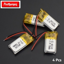 401120 Lithium Battery 37V 70mAh li-ion Lipo cells Li-Po Polymer Rechargeable Battery For mobile bluetooth earphone GPS POS
