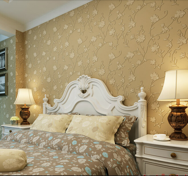 10m*53cm European contracted foaming The sitting room the bedroom wallpaper Environmental protection non-woven wall paper yarn new warm shadow plain coloured wallpaper contracted european style wall paper the sitting room dining room study bedroom wall