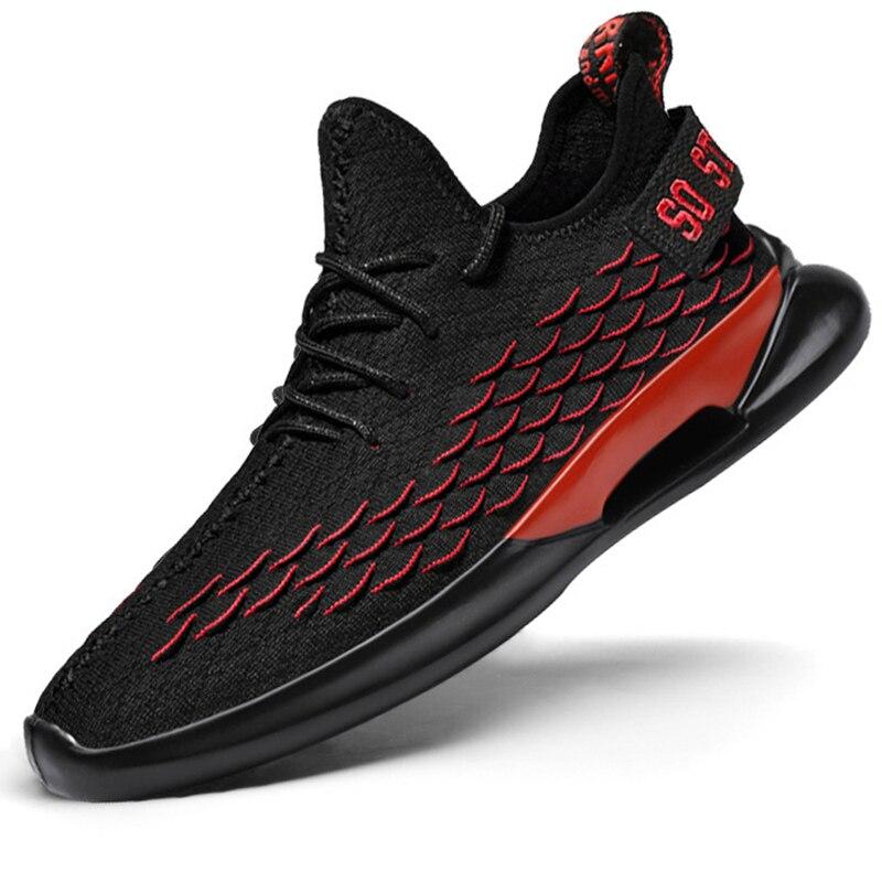 Homme baskets respirant décontracté No-slip hommes chaussures mode mâle air mesh chaussures à lacets résistant à l'usure chaussures de sport d'été