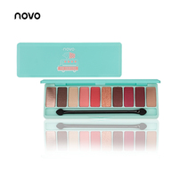 NOVO Fashion eyeshadow palette 10Colors Matte EyeShadow naked palette Glitter eye shadow MakeUp Nude MakeUp set Korea Cosmetics