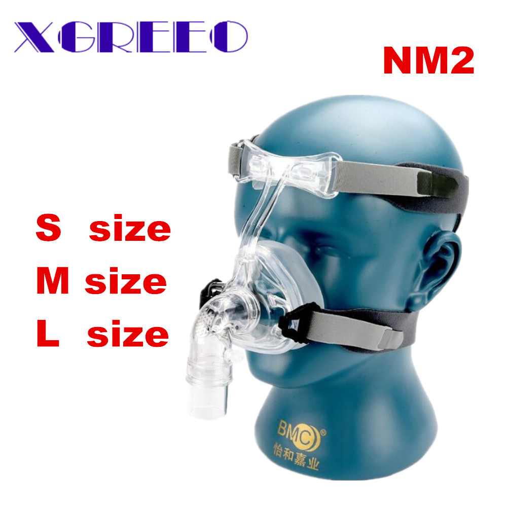 BMC CPAP Mask NM2 Nasal Mask With Adjustable Strap Headgear Breathing Maskesi For Sleep Apnea Nasal Anti Snoring Treatment new cpap headgear replacement fit for respironics comfort gel nasal mask head band