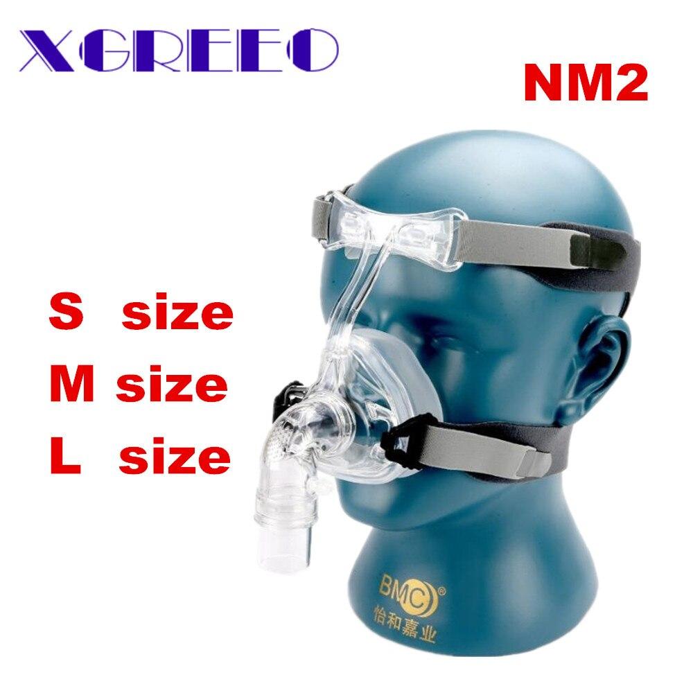 BMC CPAP Masque NM2 Masque Nasal Avec Sangle Réglable Coiffures Respiration Maskesi Pour L'apnée Du Sommeil Nasale Anti Ronflement Traitement
